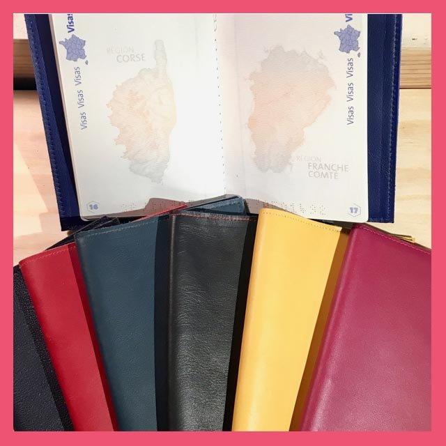 Protège passeport fait main