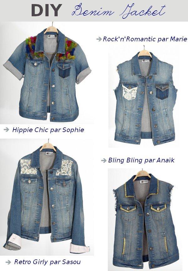 Veste en jean customisée DIY