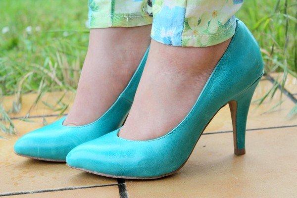 Escarpins bleu turquoise