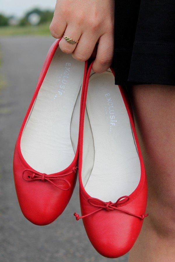 Chaussures ballerines rouge