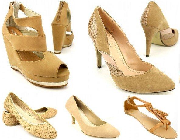 Sandales beige tendance