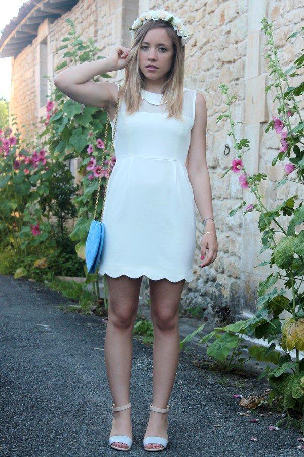 Look tendance robe blanche