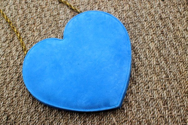 Sac coeur bleu