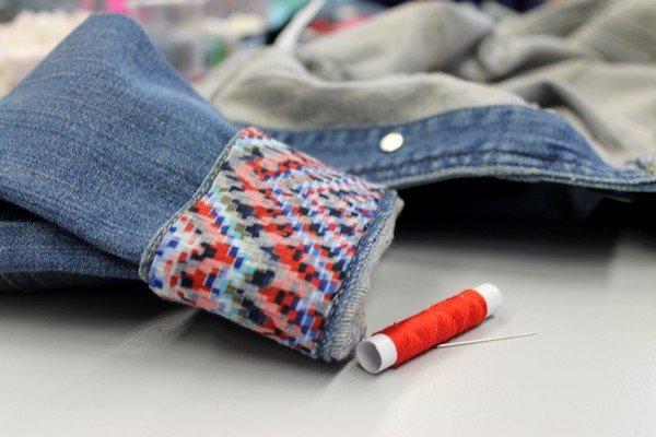 DIY customisation veste jean
