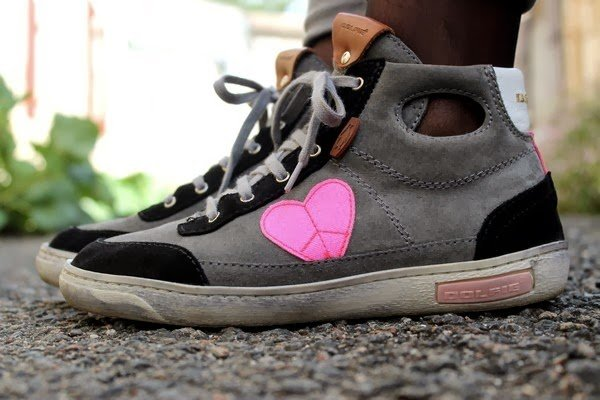 Chaussures Dolfie tennis coeur