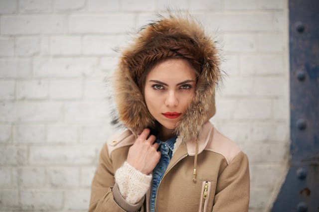 Kookai manteau capuche fourrure