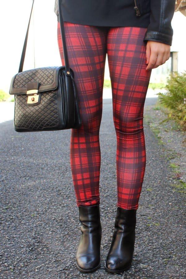 Legging motif tartan