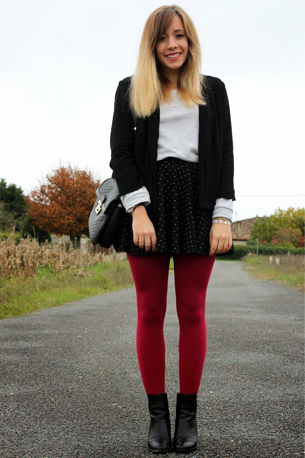 Collants rouges hiver