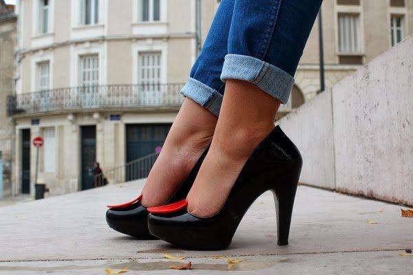 Escarpins coeur noir Melissa