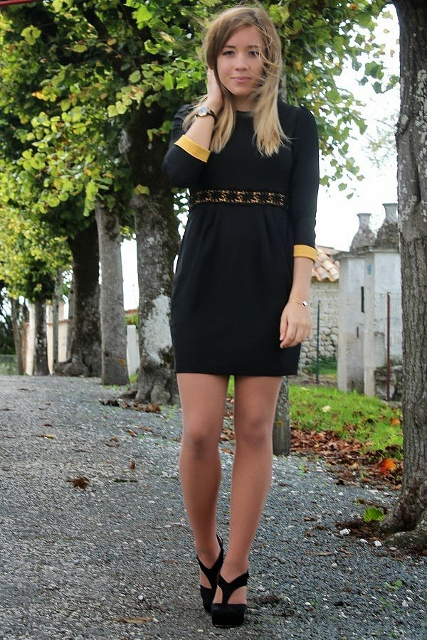 Robe noire simple chic