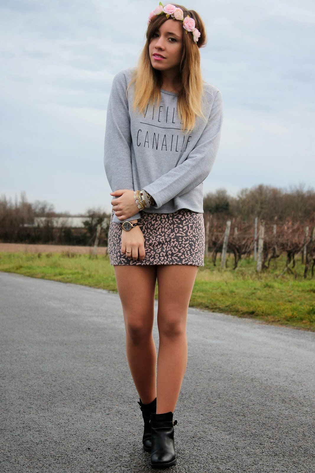 Tenue sweat gris