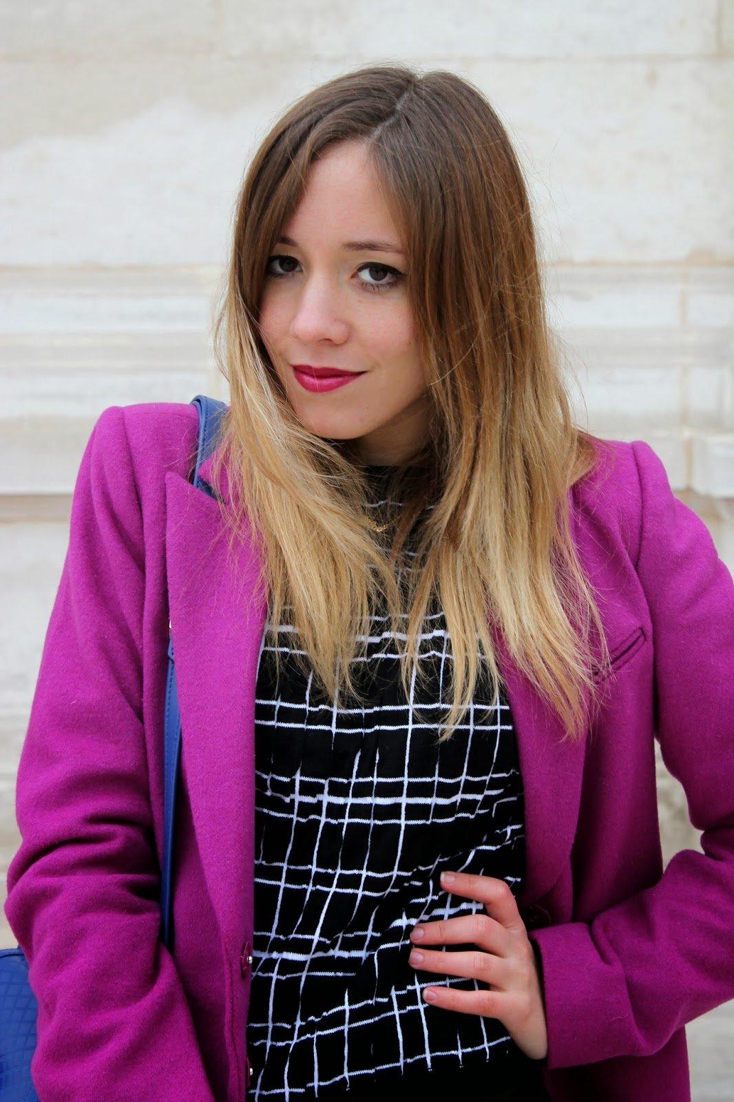 Manteau violet DDP
