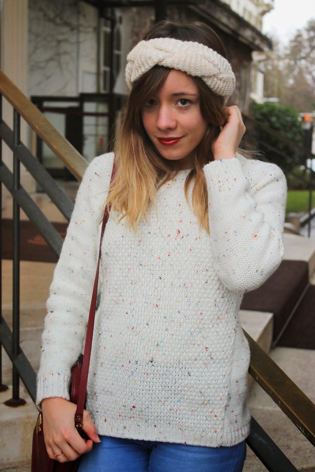 Turban en laine blonde