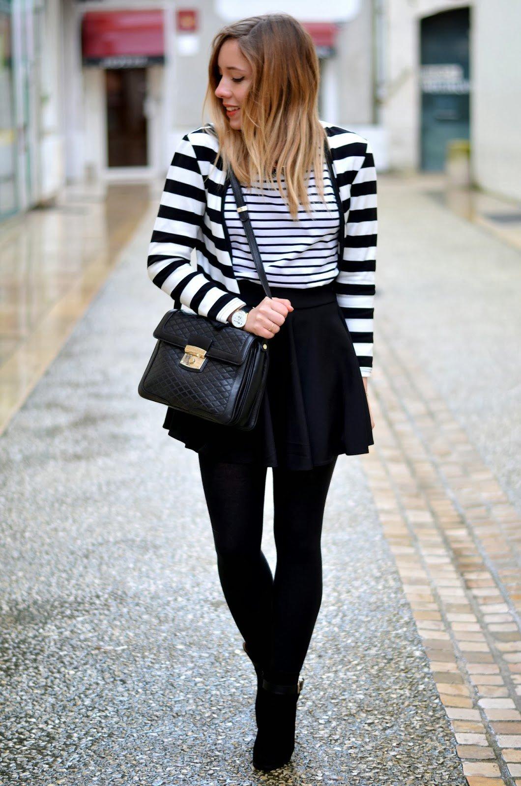 Veste raye noir et blanche