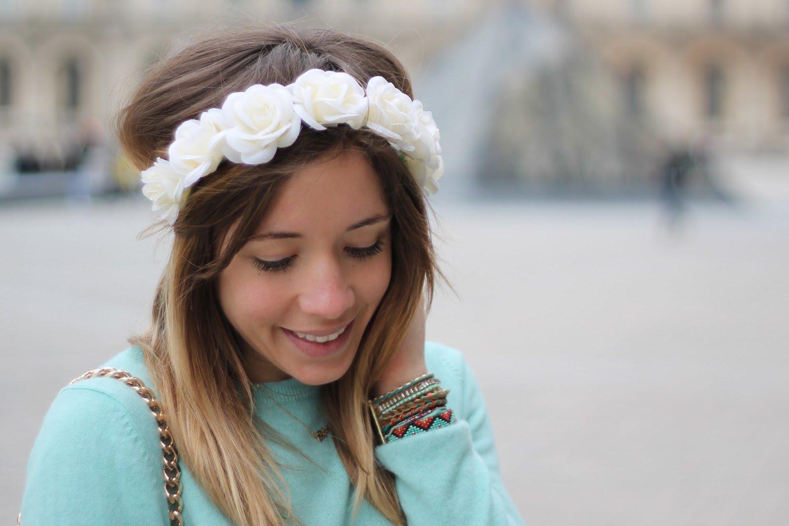 couronne fleurs blanche