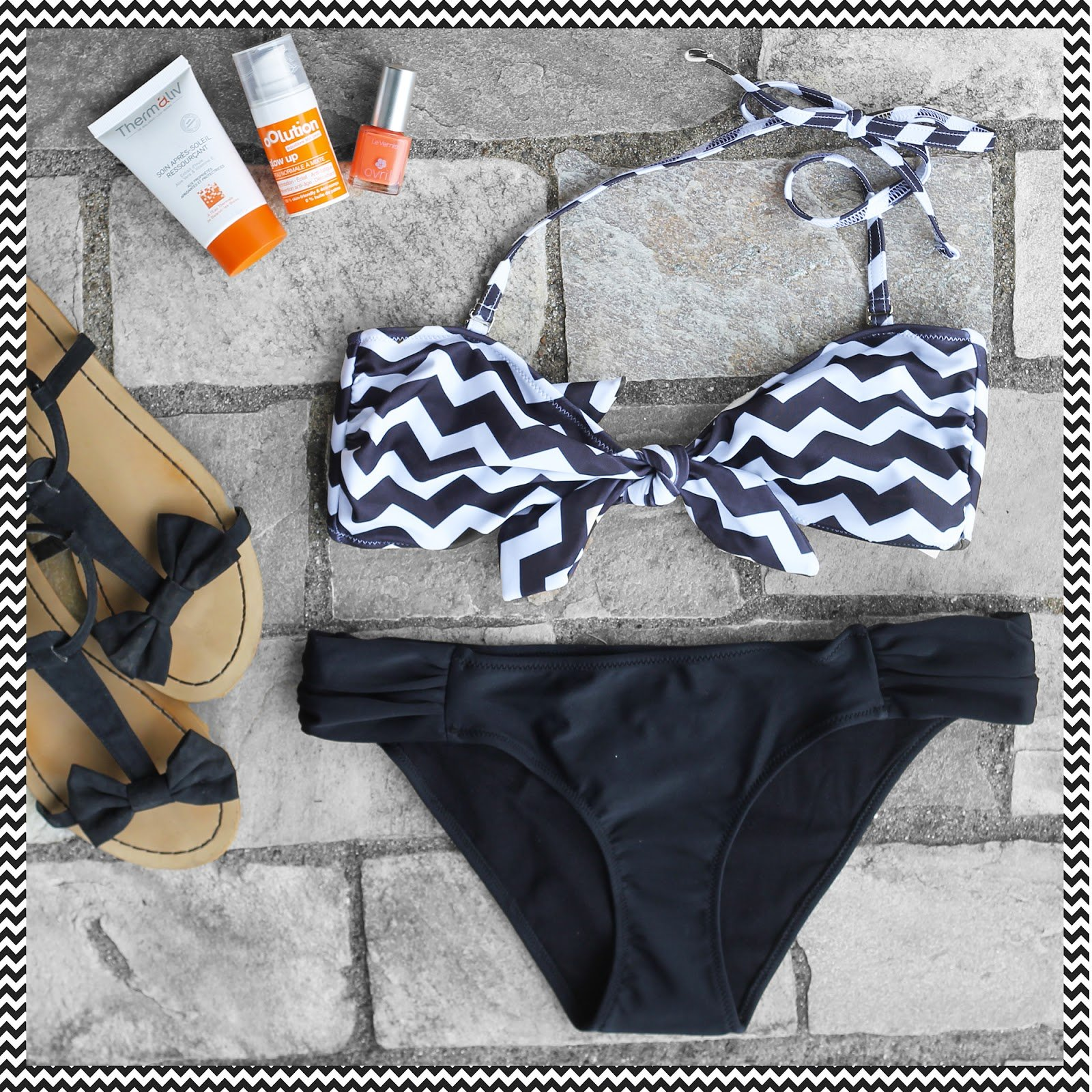Bikini chevron imprimé
