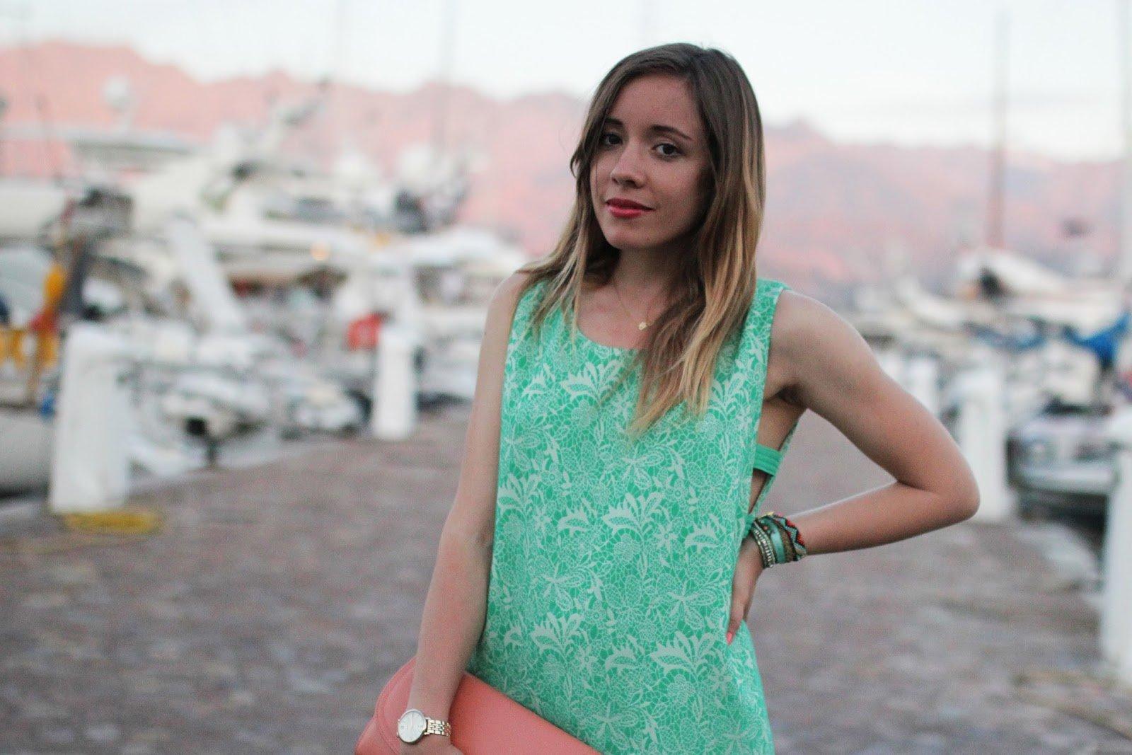 Robe verte été