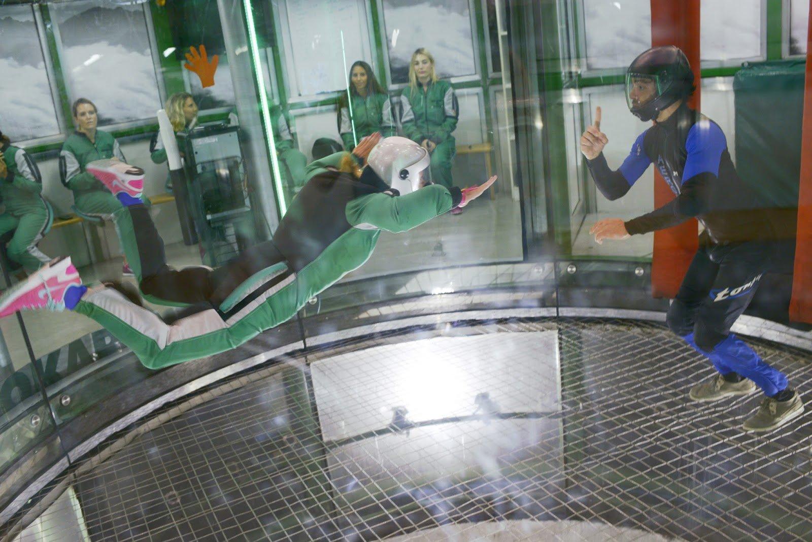 Simulateur de chute libre