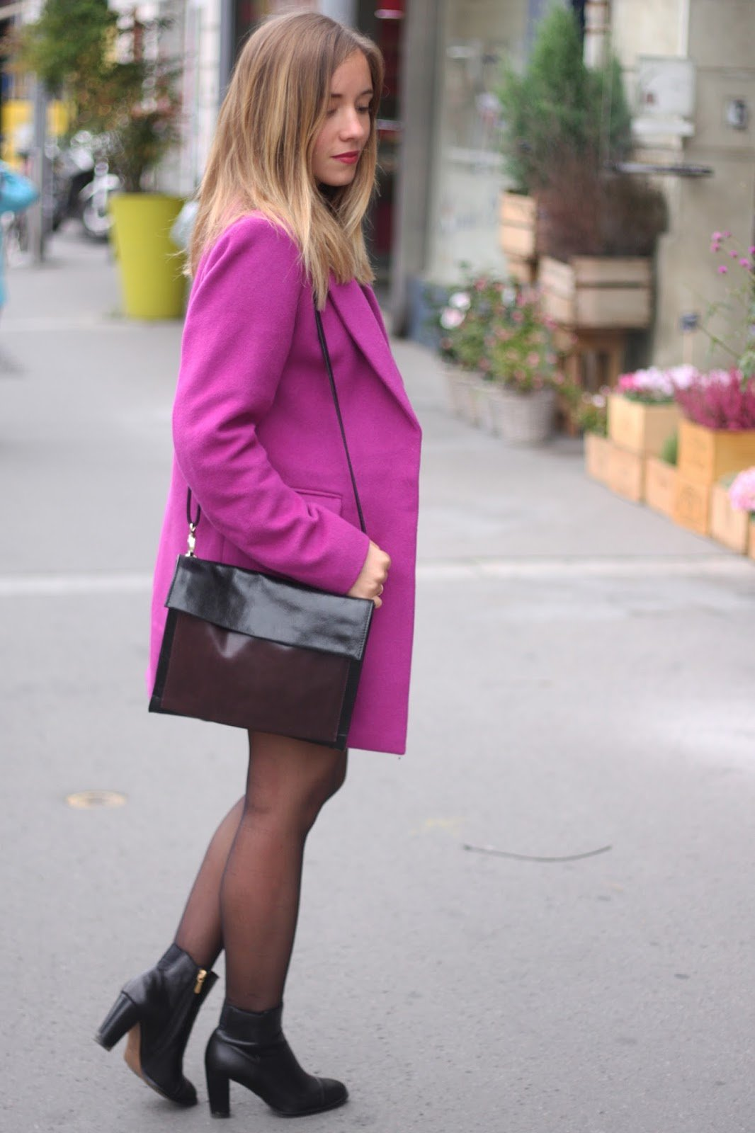 Manteau rose fuchsia