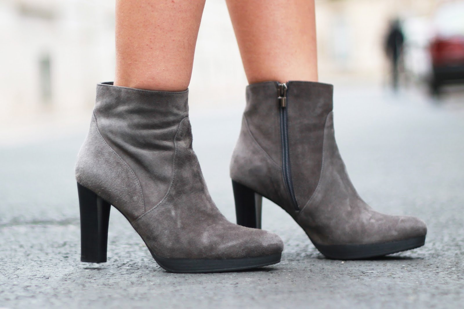 Bottines grises duo boots