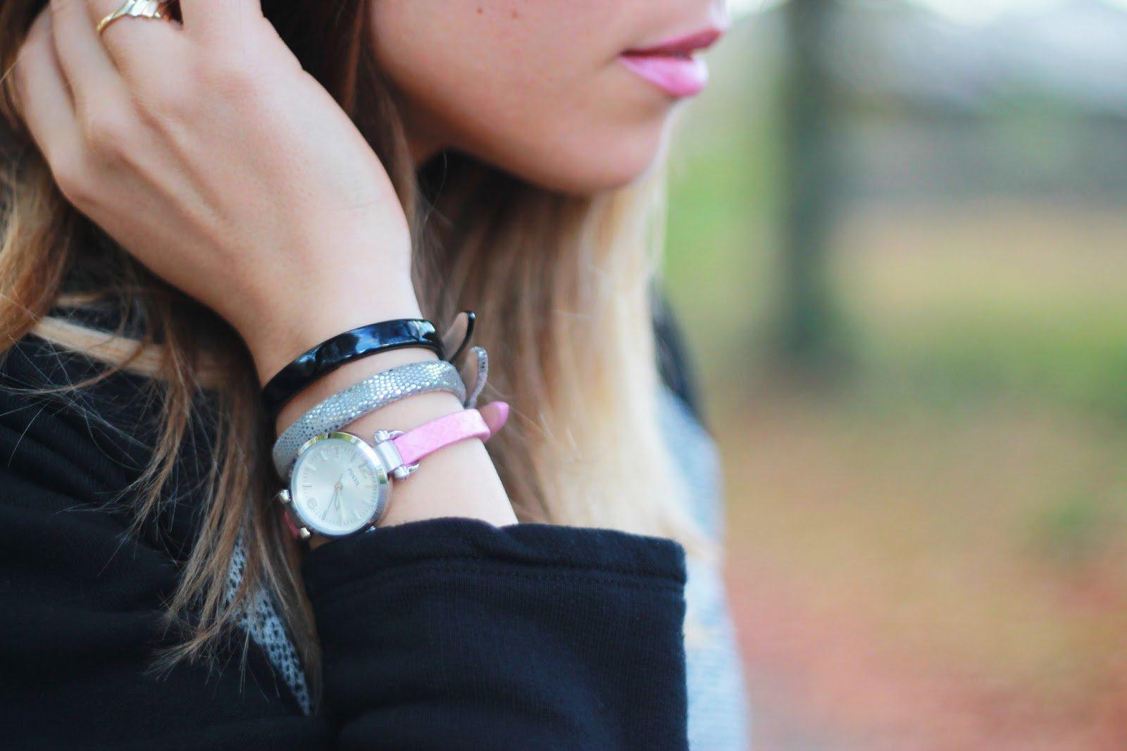 Fossil montres Georgia mini coffret collector bracelets interchangeables