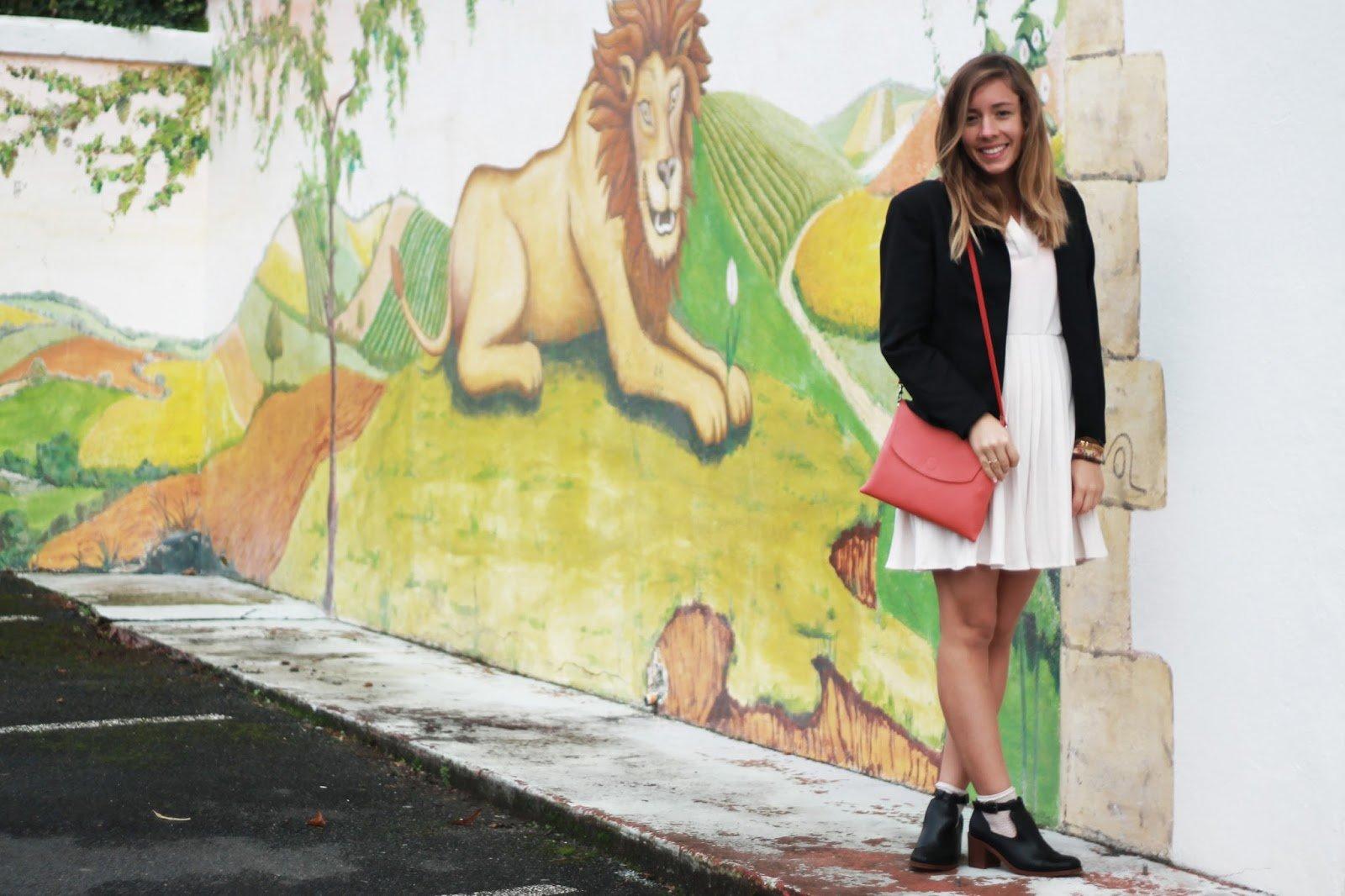 Mur tagué lion