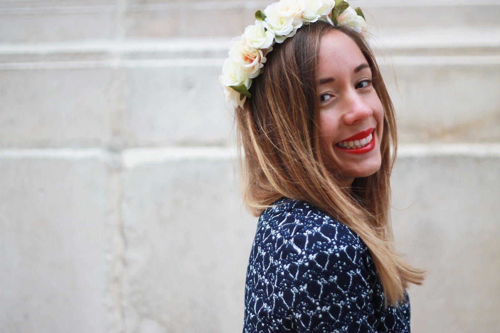 Couronne de fleurs blogueuse