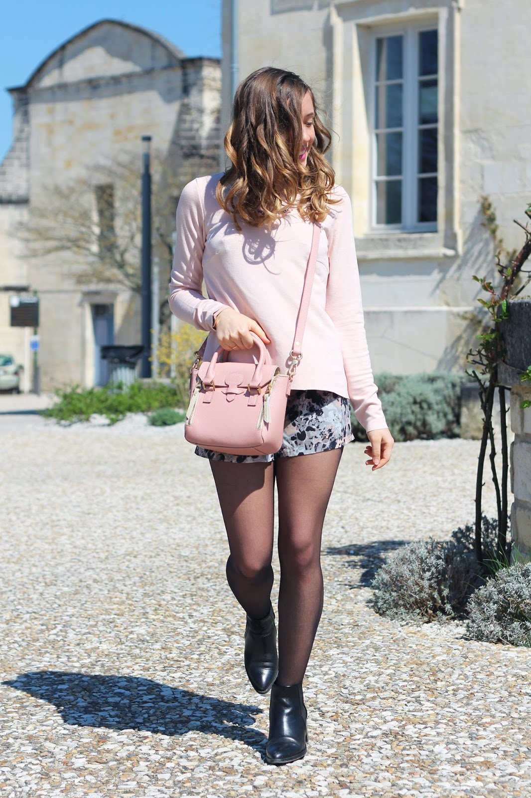Tenue mode rose pastel printemps