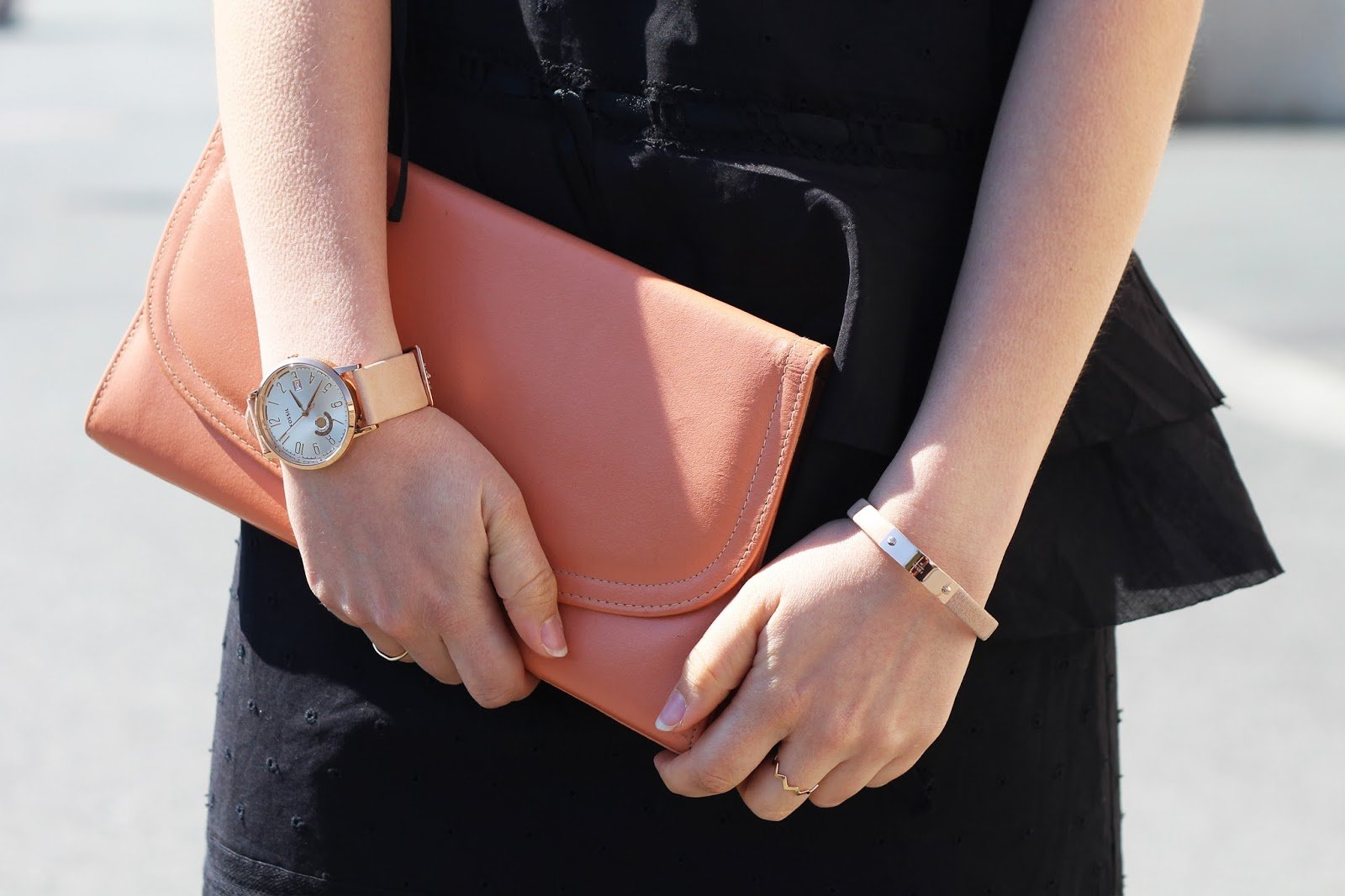 Montre et bracelet or rose Fossil
