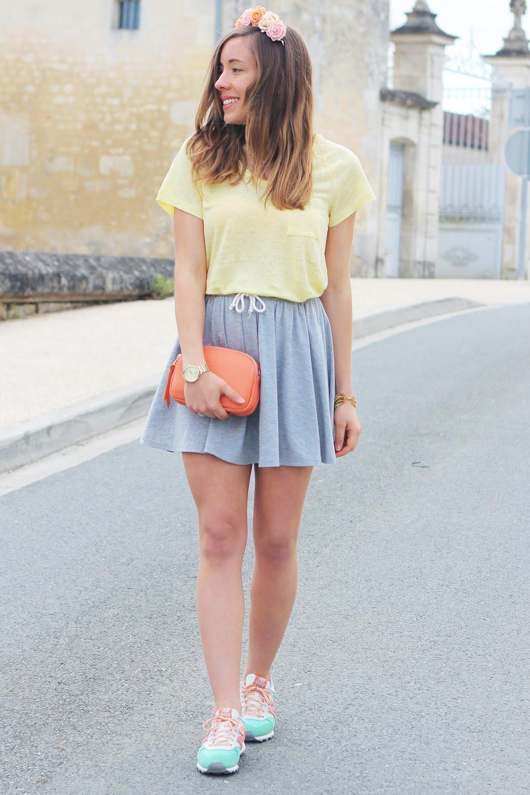 tenue printanière couleurs pastel