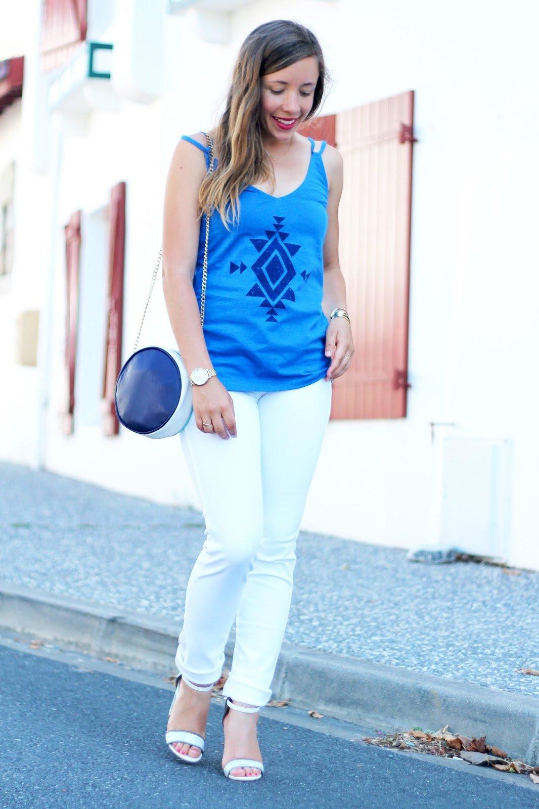 Pantalon jean blanc Wrangler