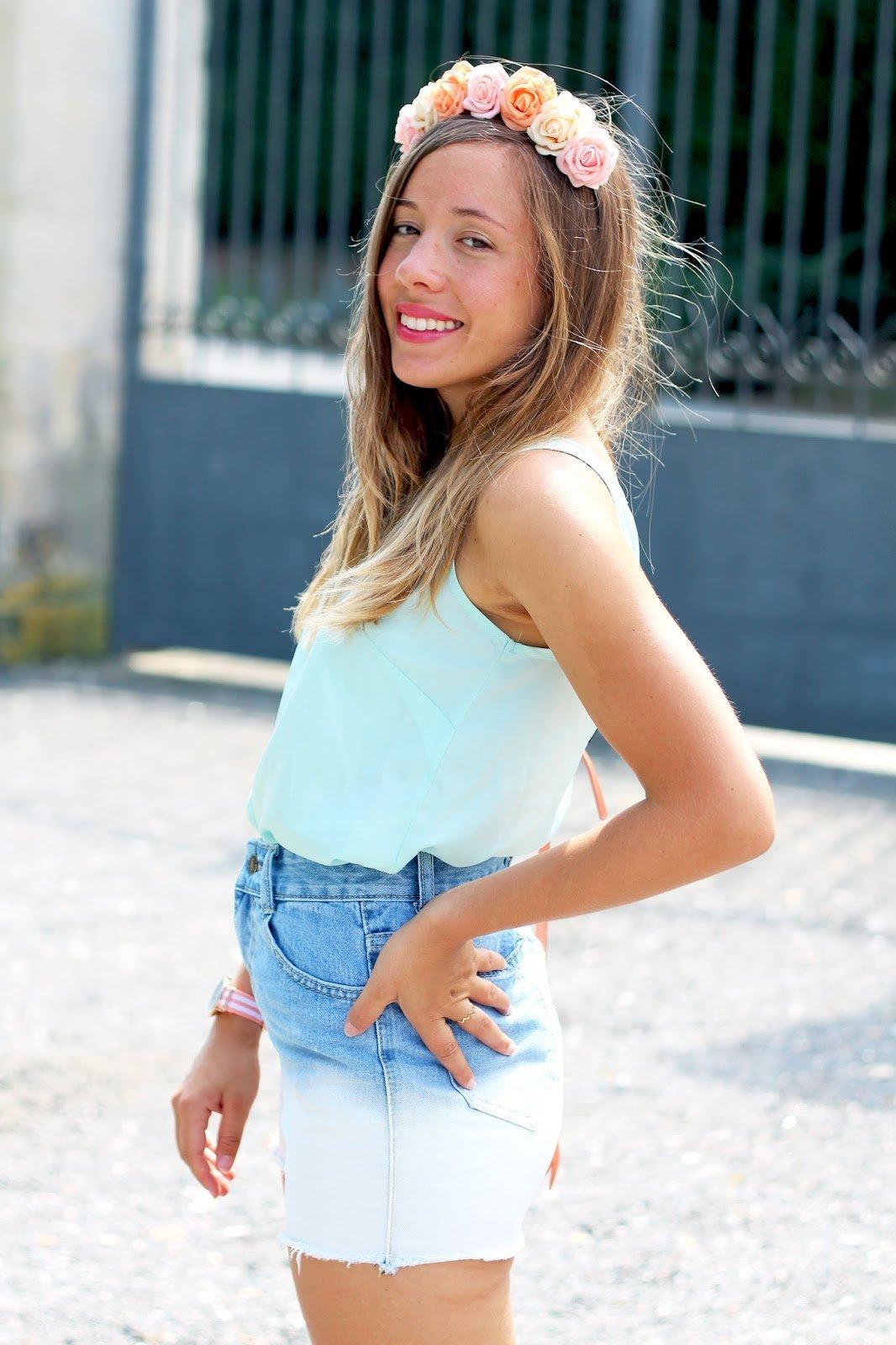 Blog mode Chloé short jean tie dye