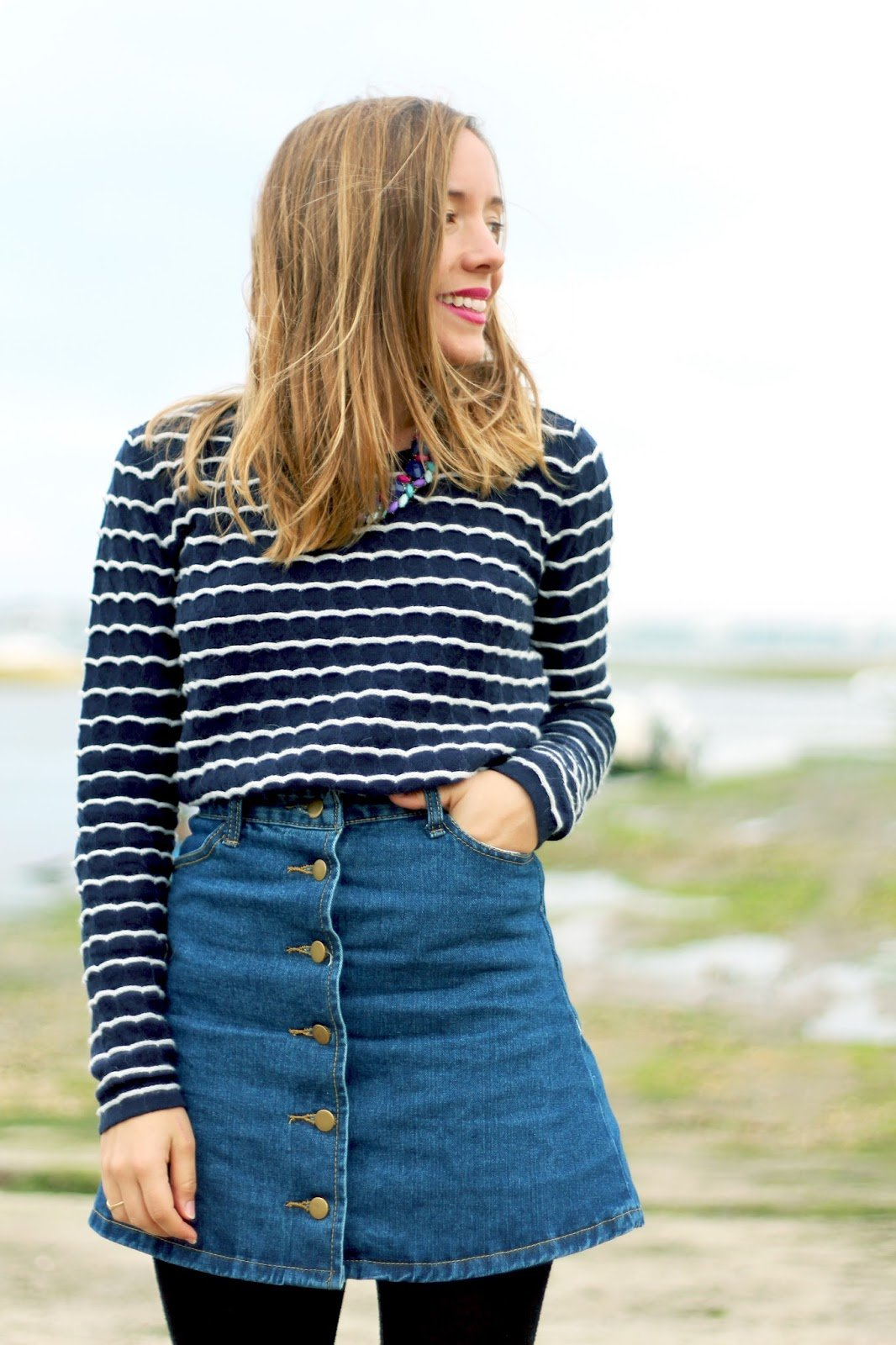 Blog mode jupe jean boutonnée devant