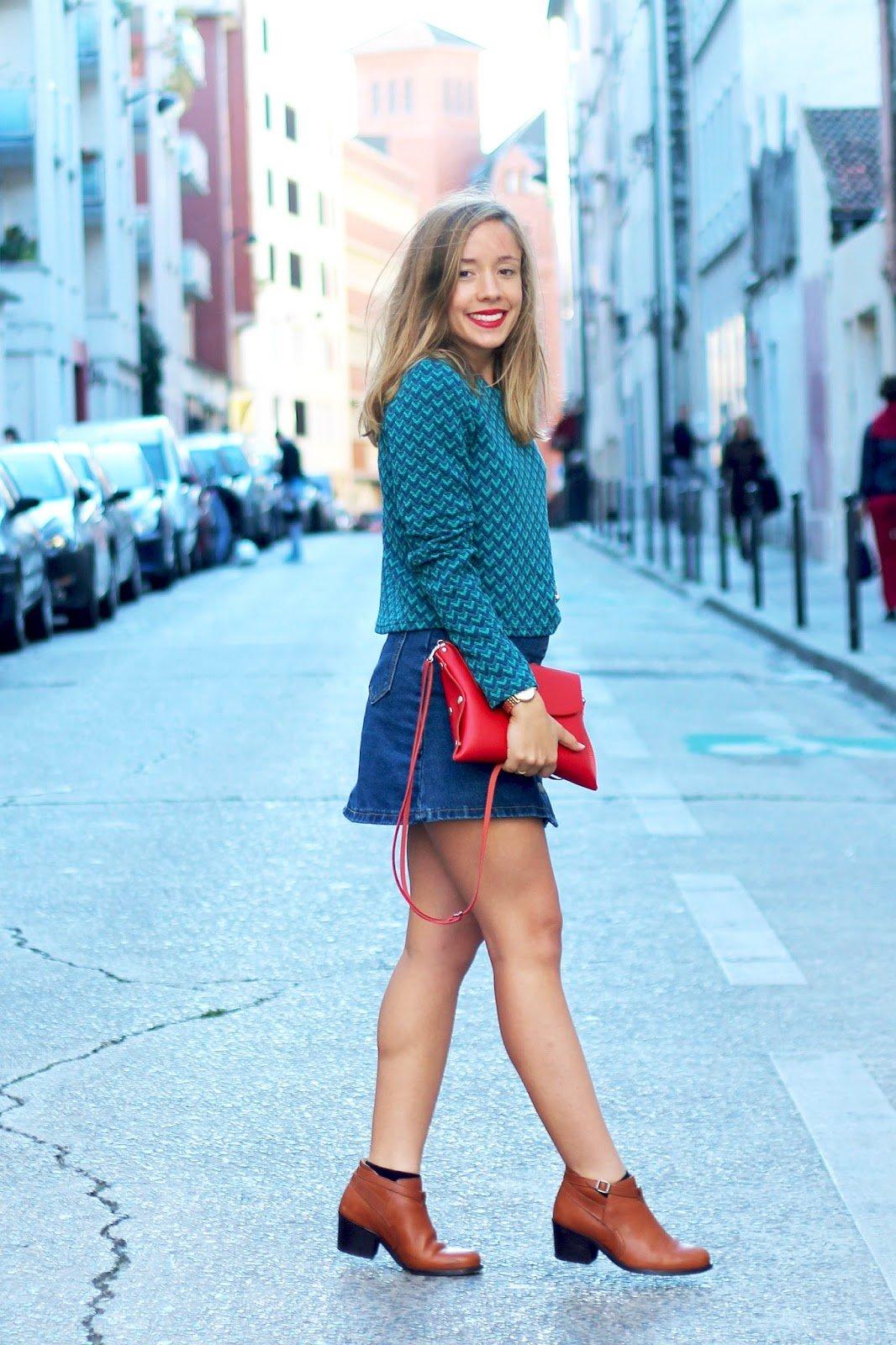 Blog mode tenue automne top vert sapin