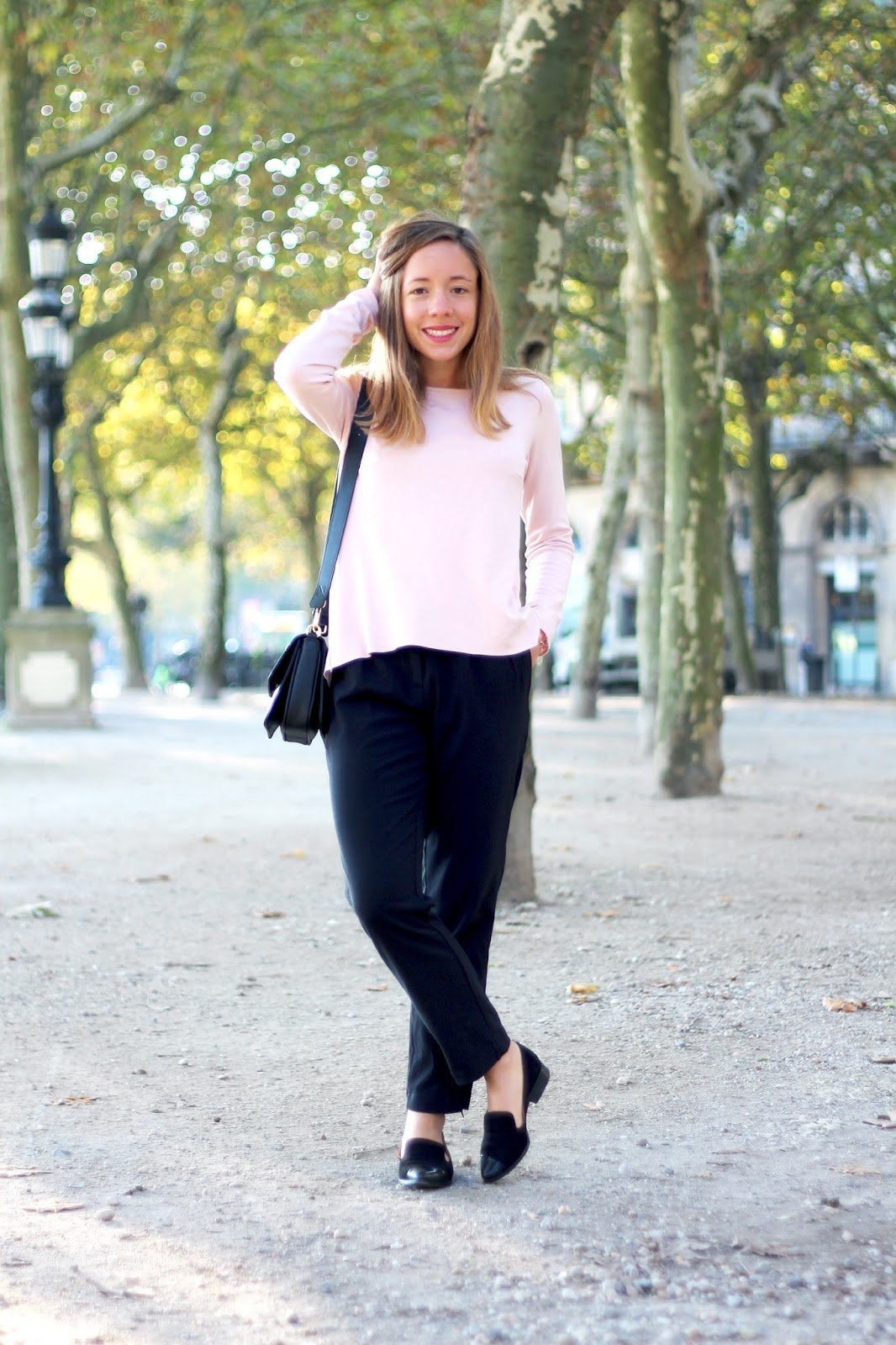 Blog mode look pantalon droit fluide