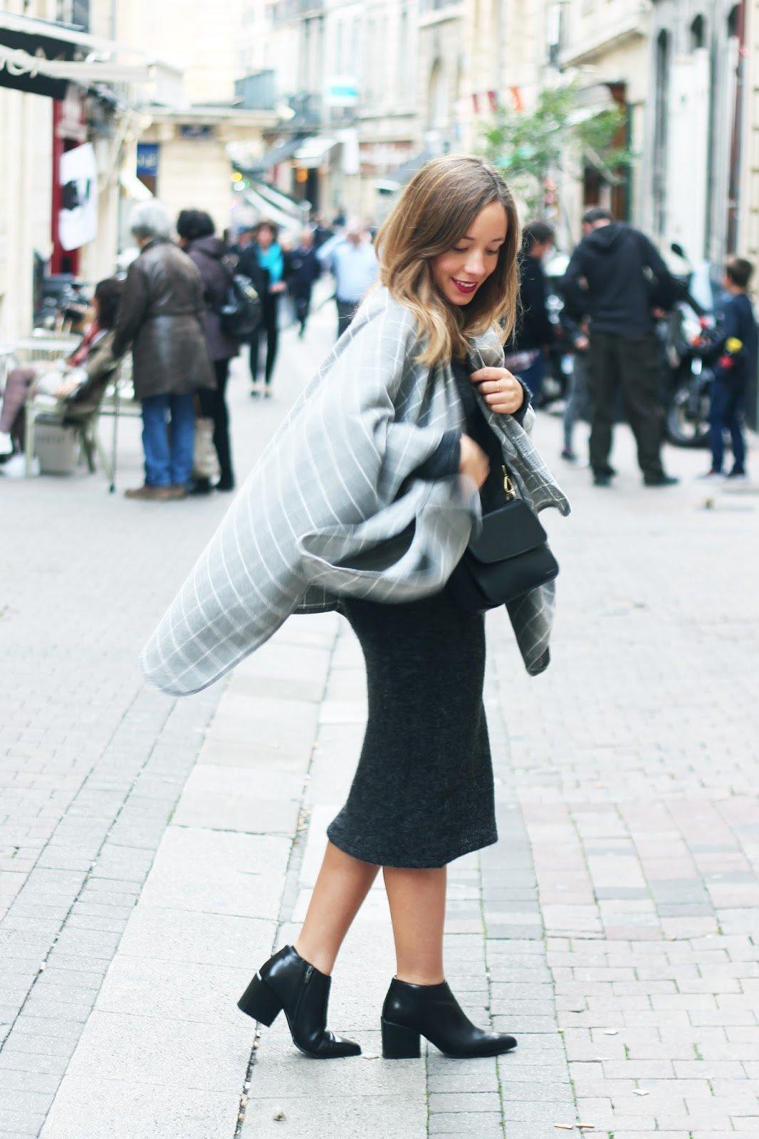 look automne robe longue poncho