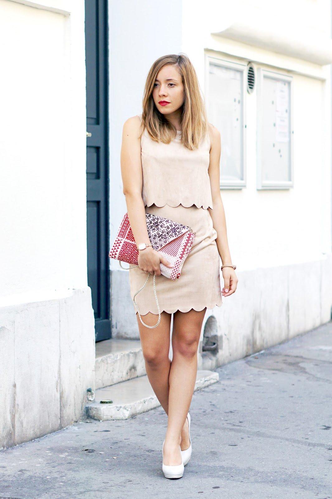 Blog mode tenue robe suédine