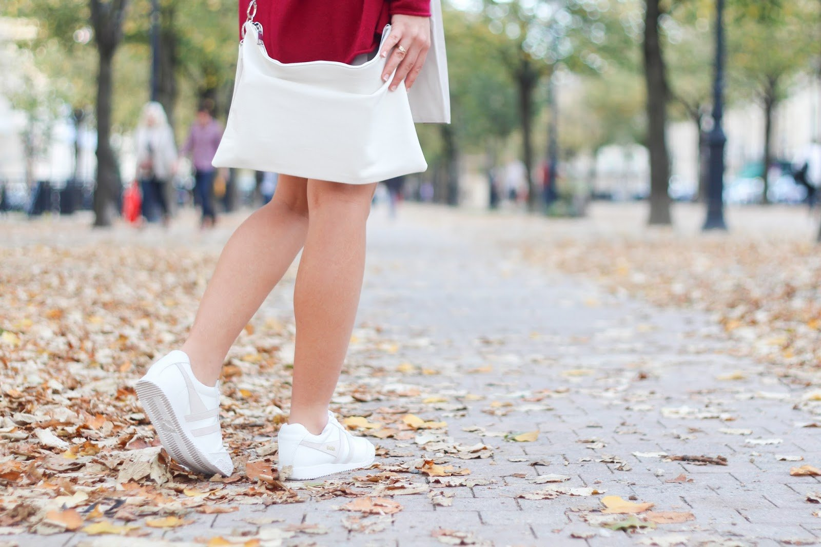 sneakers blanches automne