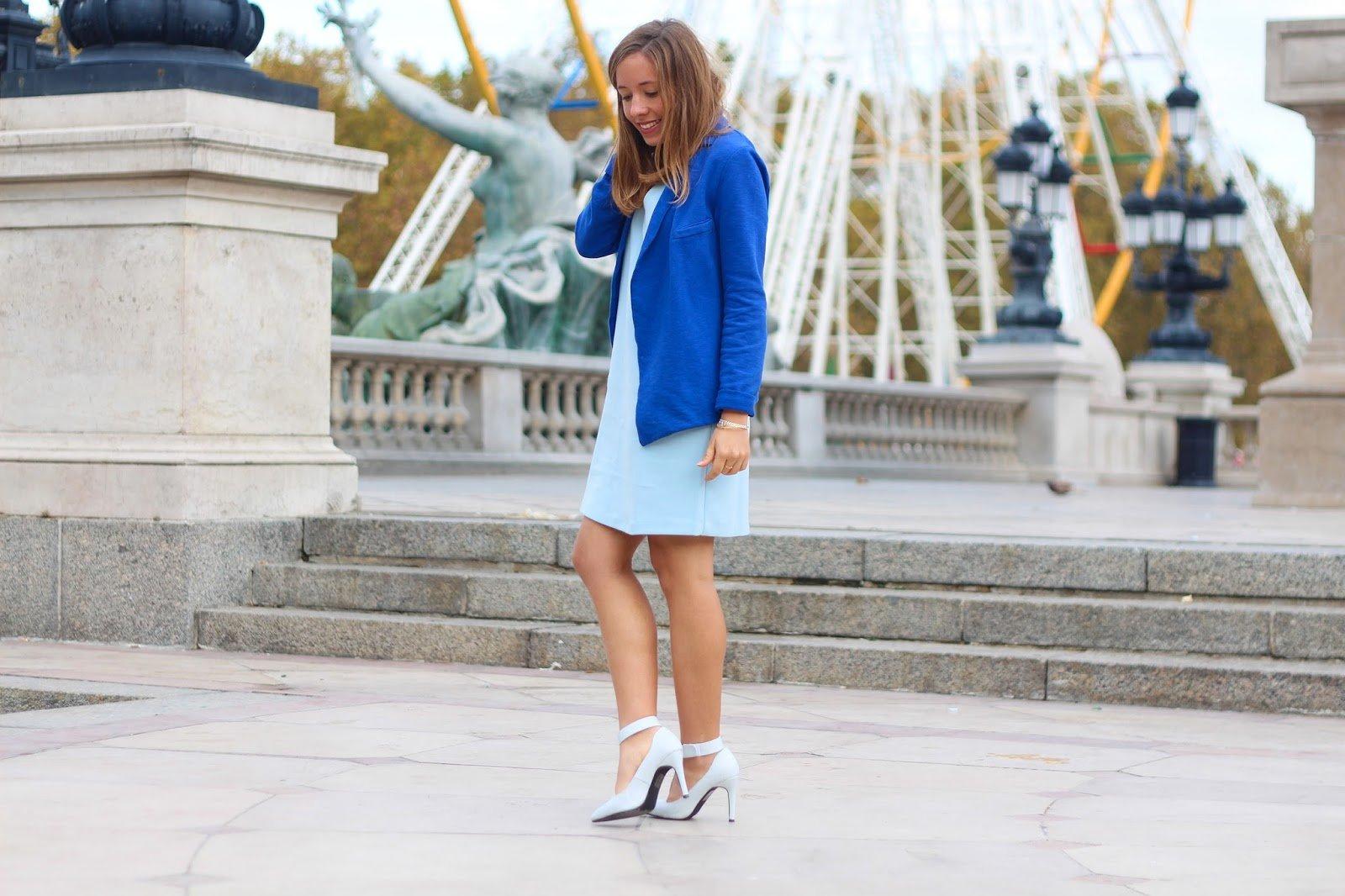 Total look bleu automne tendance