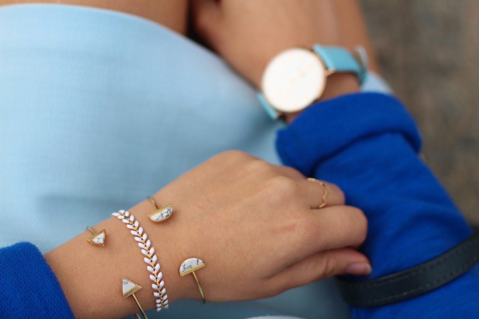 Bracelet fin marbre