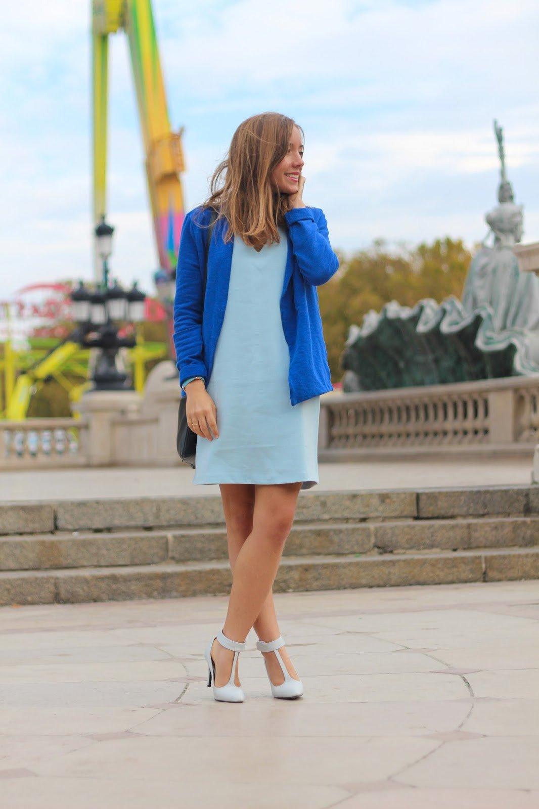 Total look bleu hiver automne