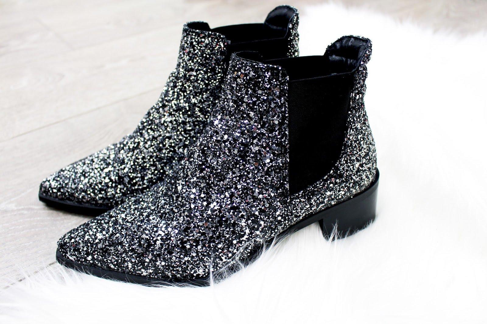 bottines paillettes glitters chaussures de soirée