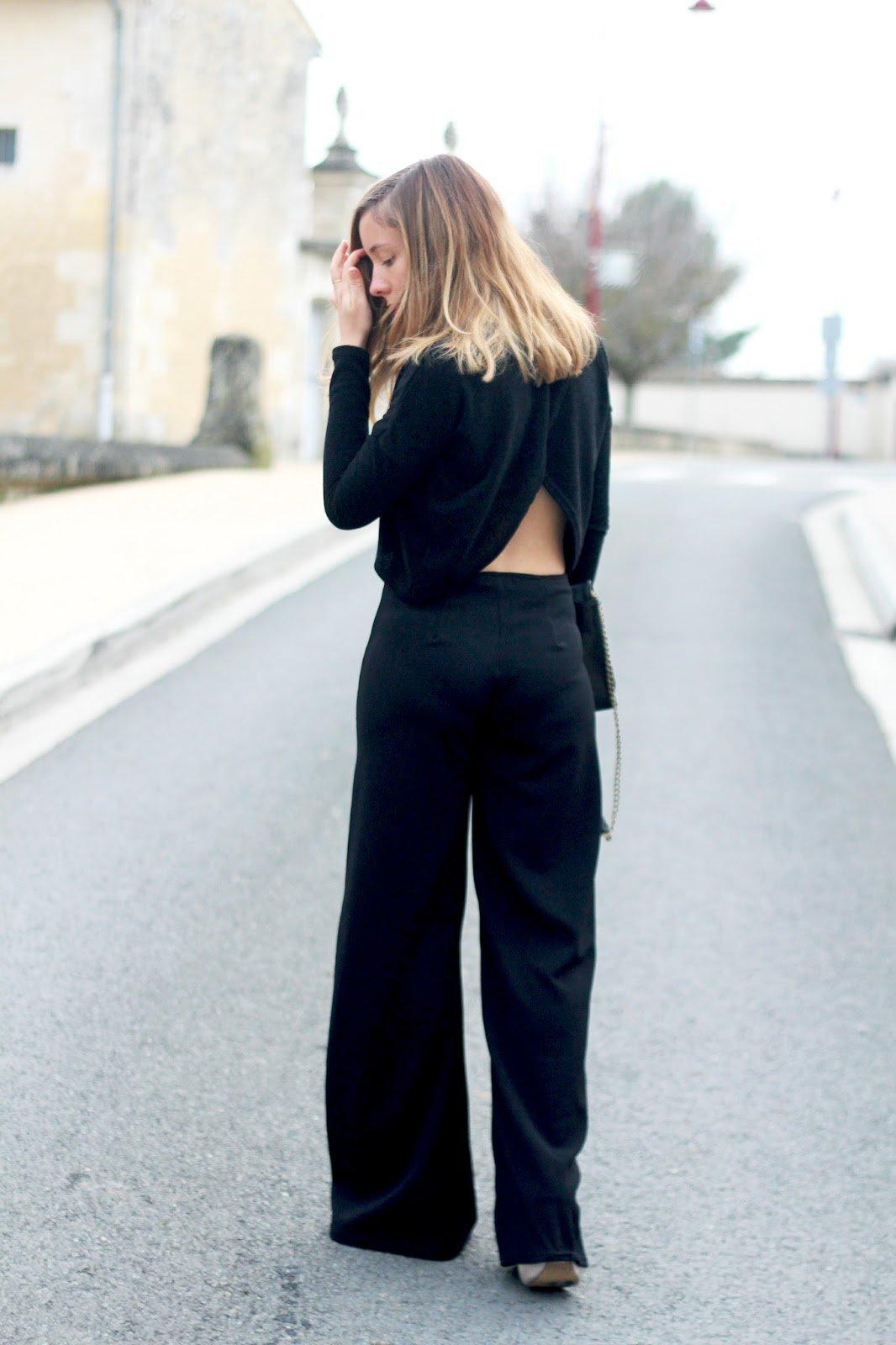 Total look noir soirée