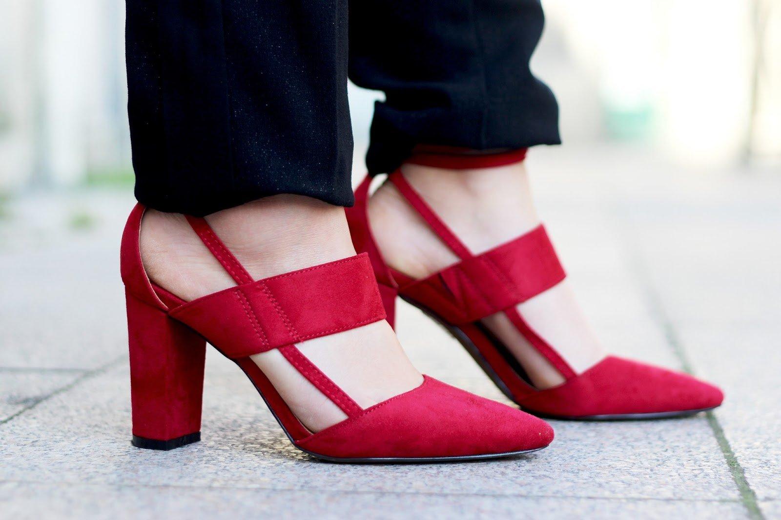 Sandales rouges Boohoo