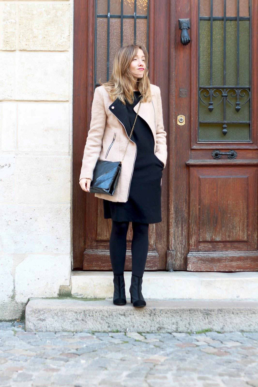 tenue hiver manteau beige blog mode la penderie de chloe. Black Bedroom Furniture Sets. Home Design Ideas