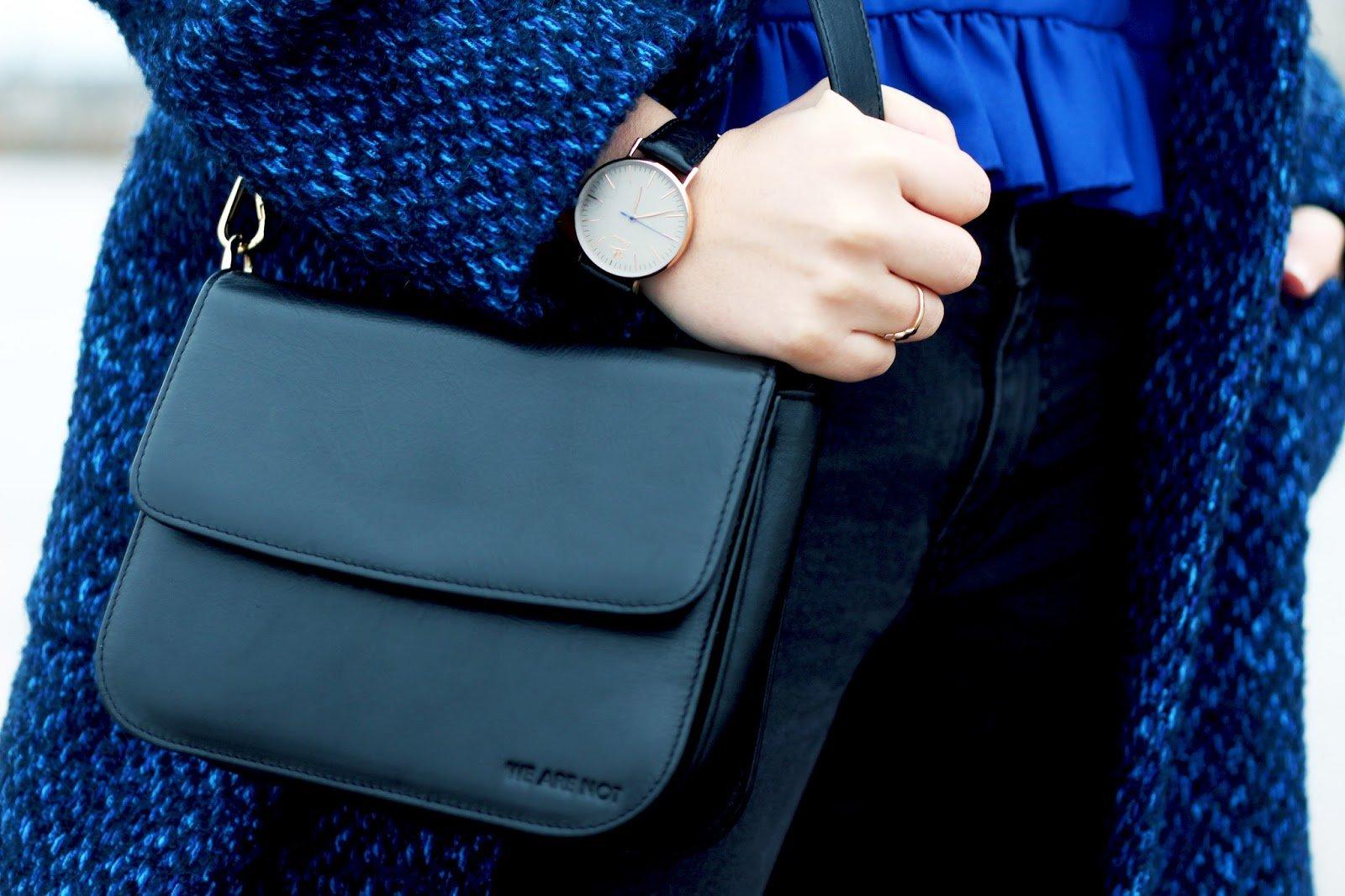 sac cuir noir petit format