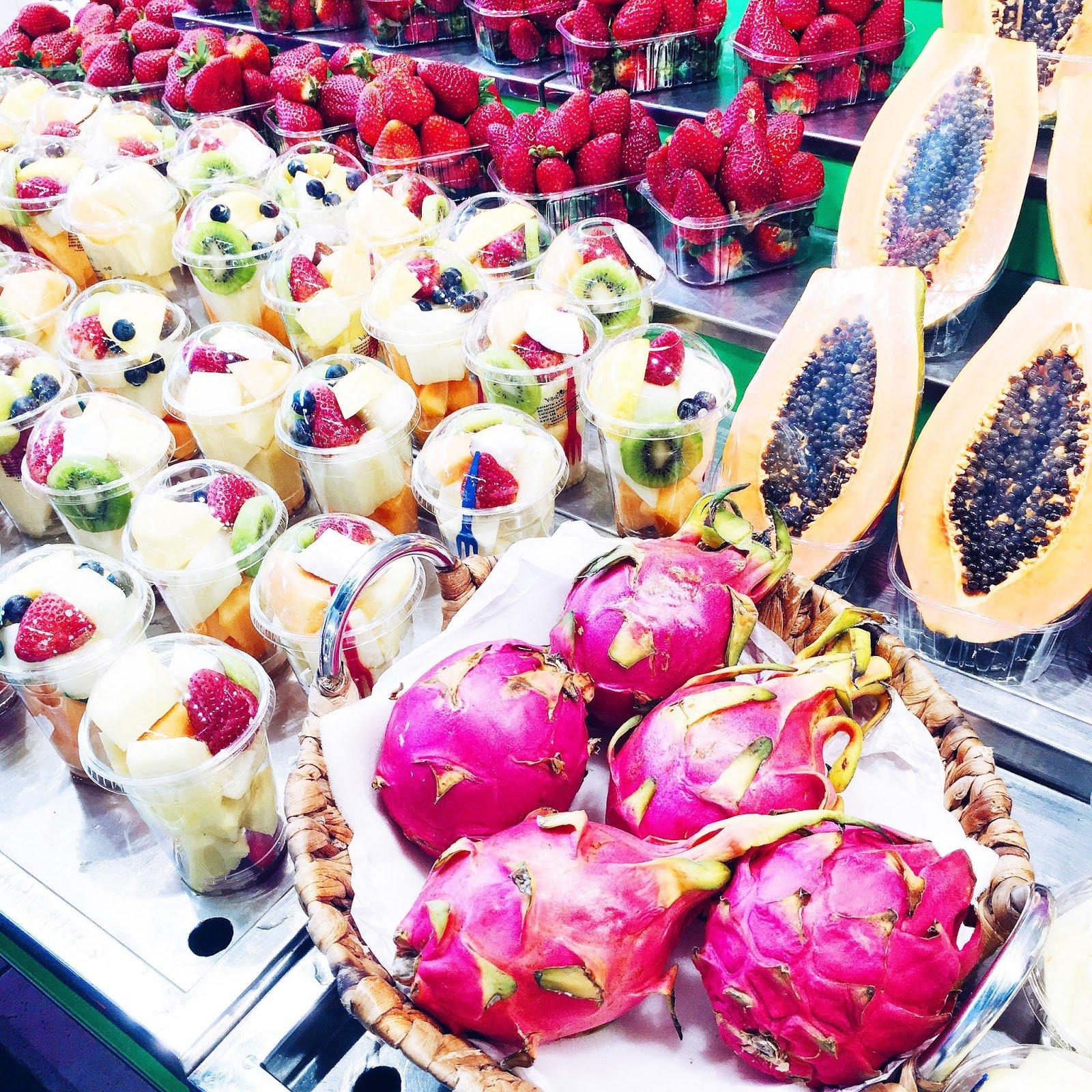 Barcelone Boqueria fruits