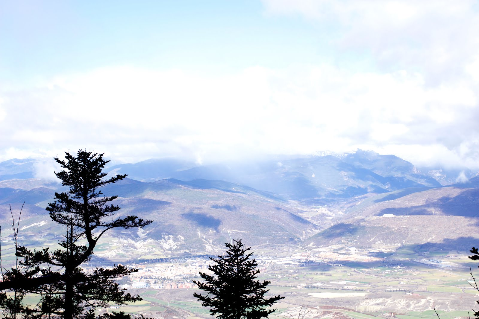 randonnée vue Jaca