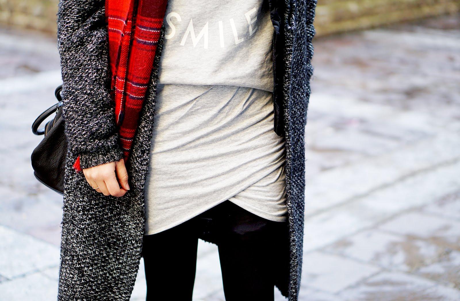 jupe molleton gris