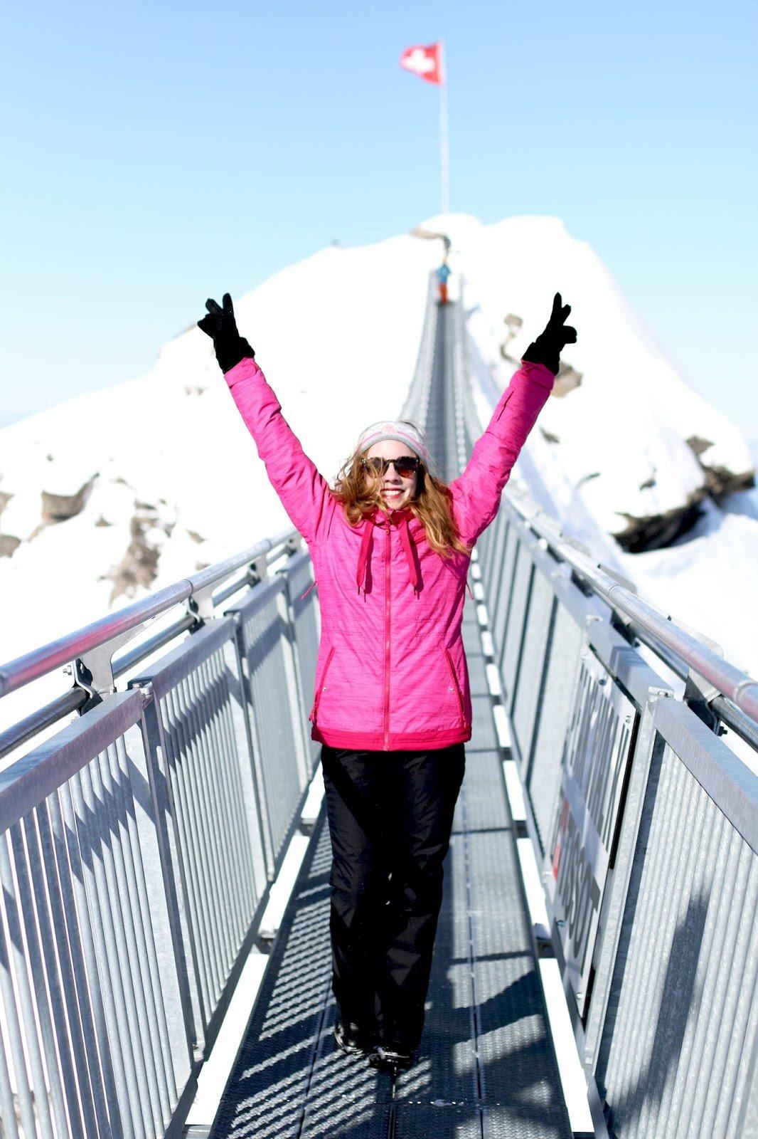Pont suspendu glacier